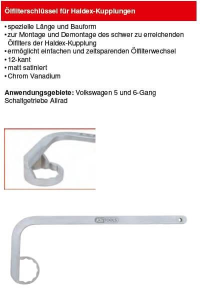 KS Tools Ölfilterschlüssel für Haldex-Kupplungen - 150.2098