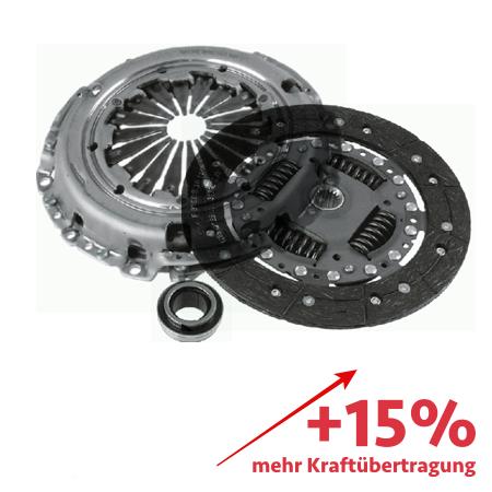 Verstärktes Kupplungskit ZF Sachs Serie - ca. 15% mehr Kraftübertragung - 3000951088