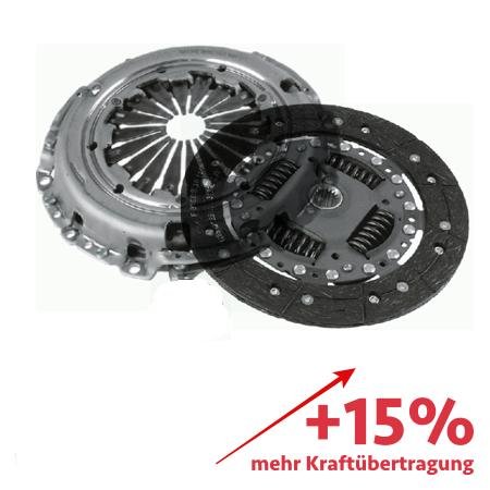 Verstärktes Kupplungskit ZF Sachs - ca. 15% mehr Kraftübertragung - 3000970004